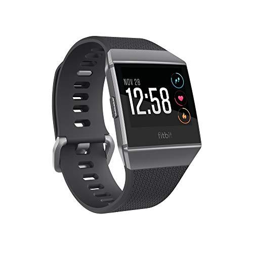 Fitbit Ionic GPS 智能手表,炭灰色/烟灰色,一种尺寸(包括 S 和 L 表带)