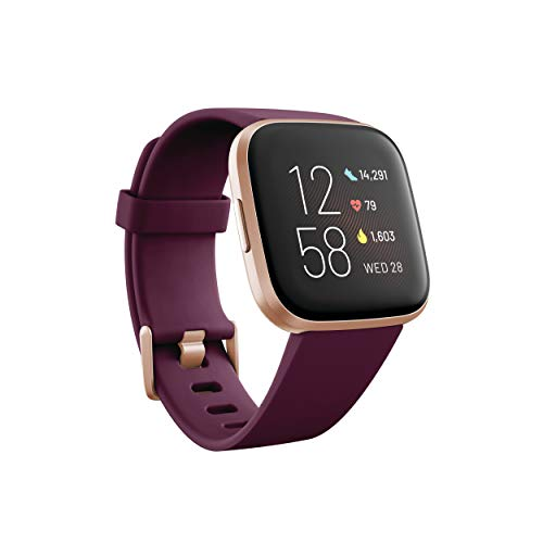 Fitbit Versa 2 健康和健身智能手表,内置心率、音乐、Alexa 等功能