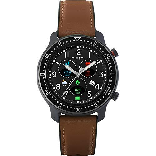 Timex Metropolitan R AMOLED 智能手表,带 GPS 和心率 42 毫米 – 黑色,带...