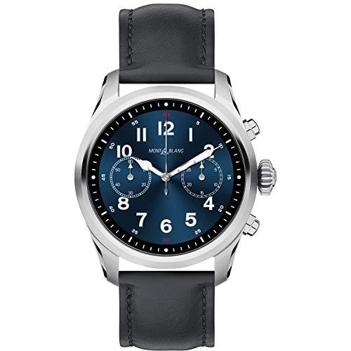 手表万宝龙峰会 2 智能手表 119440 不锈钢黑色皮革